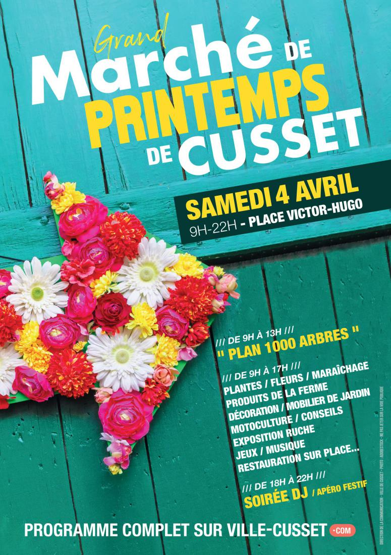 Le Grand marché de Printemps de Cusset